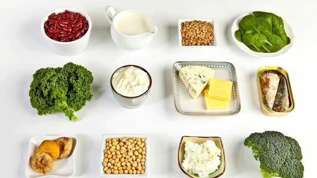 Kết quả hình ảnh cho thực phẩm chứa canxi